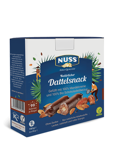 Date Snack with Almond and  Chocolate